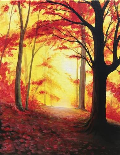 A Autumn All Aglow II paint nite project by Yaymaker