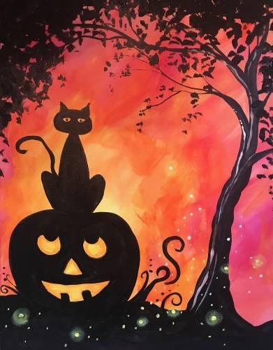 A Hallows Eve Homies paint nite project by Yaymaker
