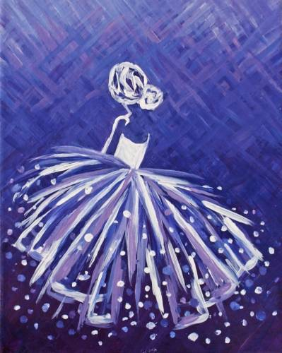 A Lady in Lavender paint nite project by Yaymaker