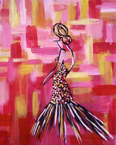 A Lady en Fuego paint nite project by Yaymaker