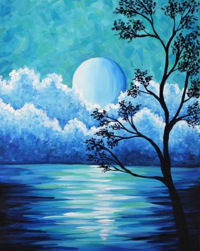A Hazy Moonrise paint nite project by Yaymaker