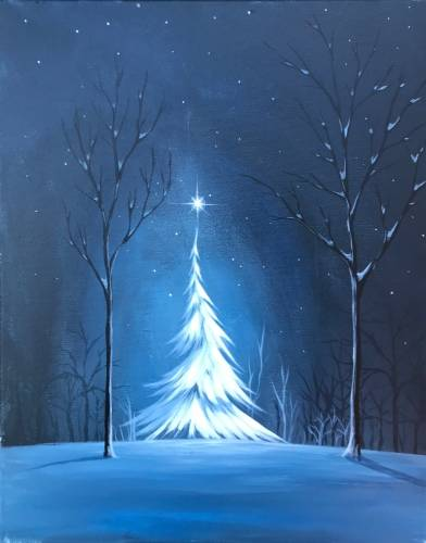 A Magical Winter Discovery paint nite project by Yaymaker