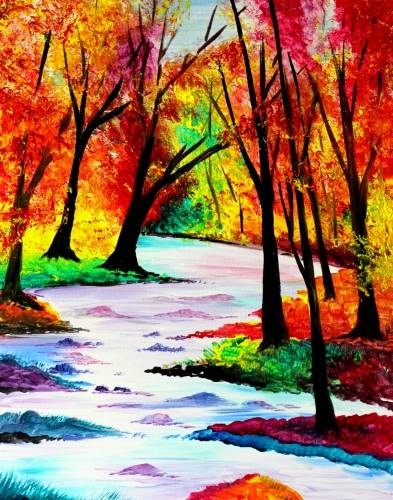 A Flowing Through Fall paint nite project by Yaymaker
