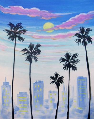 A Busy Downtown Palms paint nite project by Yaymaker
