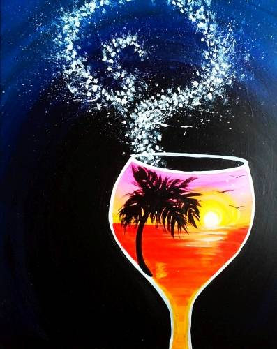 A Summer In A Glass II paint nite project by Yaymaker