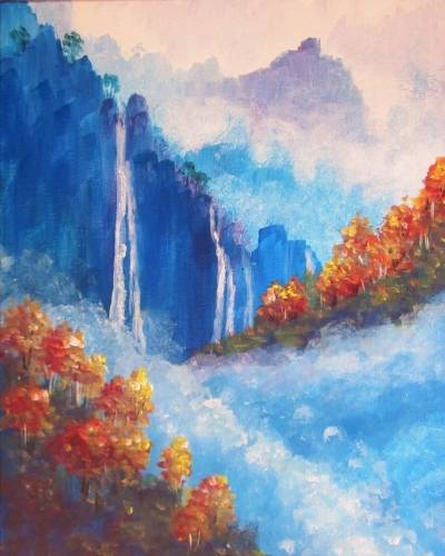 A Autumn Falls in the Mist paint nite project by Yaymaker