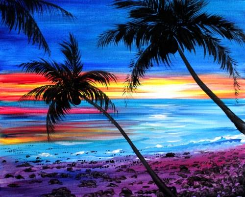 A Summer Retreats paint nite project by Yaymaker
