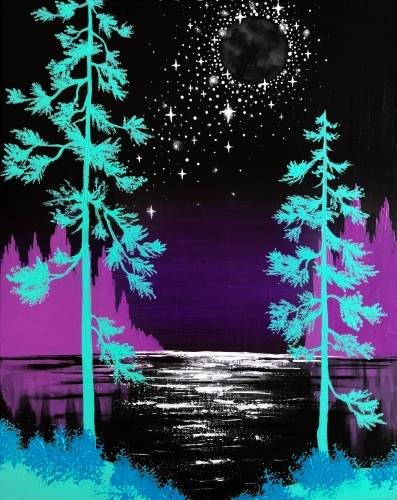 A New Moon Magic paint nite project by Yaymaker