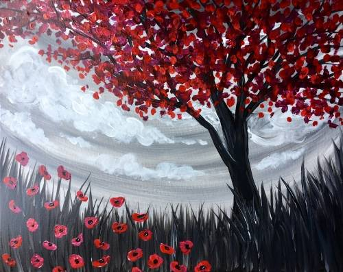 A Poppy Pasture paint nite project by Yaymaker