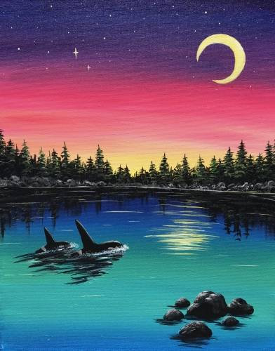 A Journey Home paint nite project by Yaymaker
