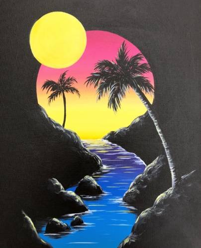 A Sunshine Vignette paint nite project by Yaymaker