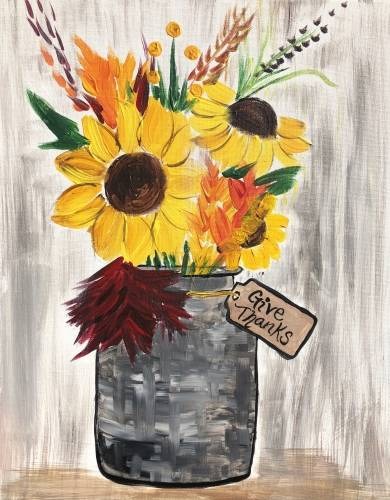A Thankful Harvest paint nite project by Yaymaker