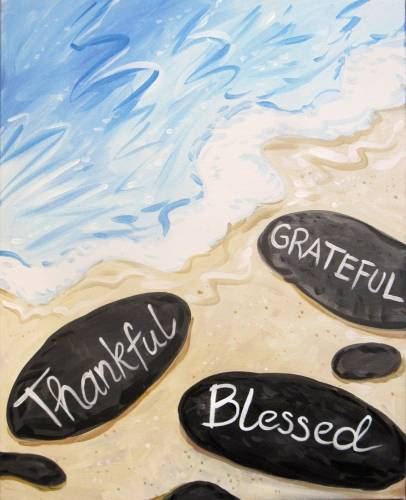 A Thankful Grateful Blessed paint nite project by Yaymaker