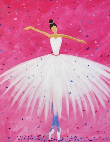 A My Ballerina paint nite project by Yaymaker