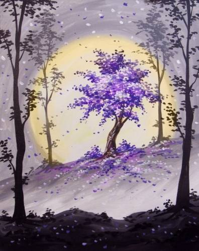 A The Happy Purple Tree paint nite project by Yaymaker