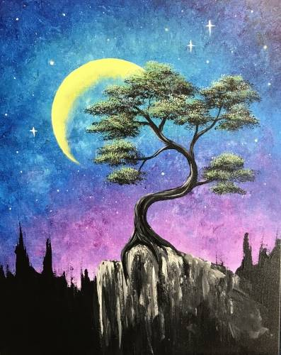 A Mystic Moonlight paint nite project by Yaymaker