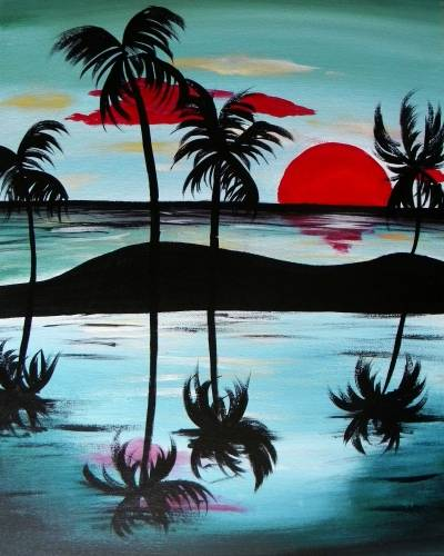 A Cool Sunset paint nite project by Yaymaker