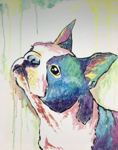 A Custom Splash  Paint Your Pet II paint nite project by Yaymaker
