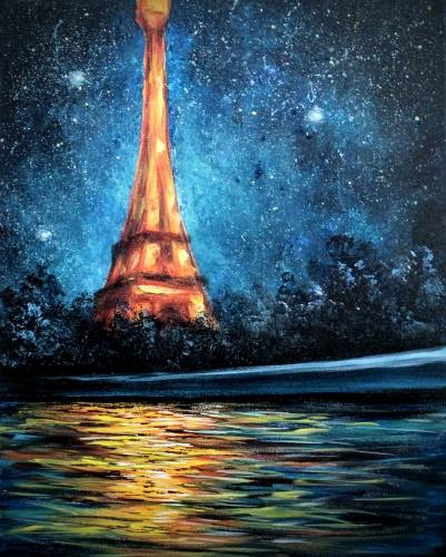 A Teal Glowing Paris II paint nite project by Yaymaker