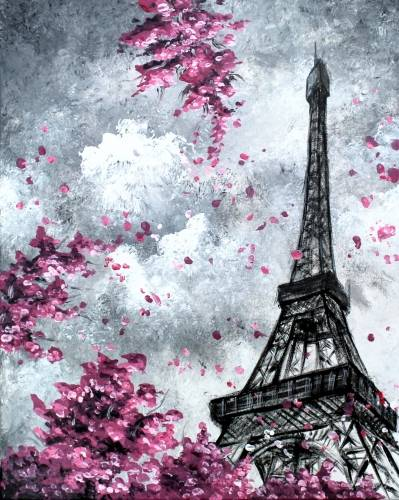 A Blossoms In Paris VI paint nite project by Yaymaker