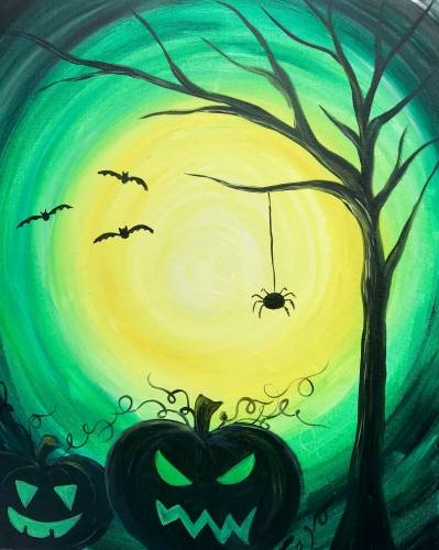 A Halloween In Green paint nite project by Yaymaker
