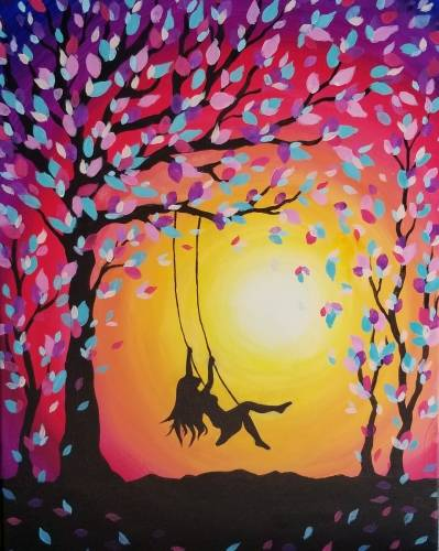 A Sunset swing III paint nite project by Yaymaker
