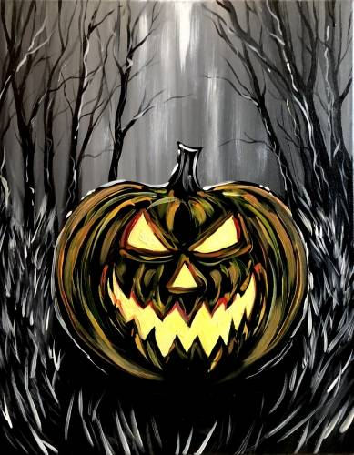 A Nightmare on Pumpkin Street paint nite project by Yaymaker