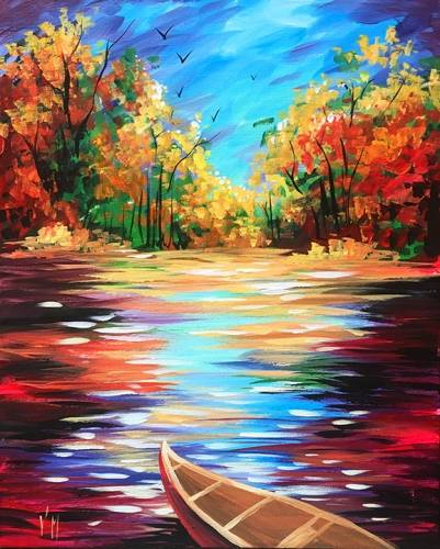 A Fall boat ride paint nite project by Yaymaker