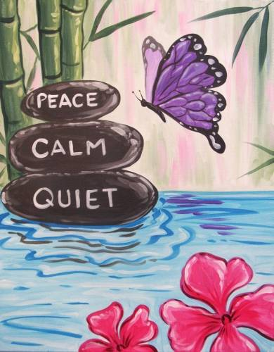 A Peace Calm Quiet paint nite project by Yaymaker