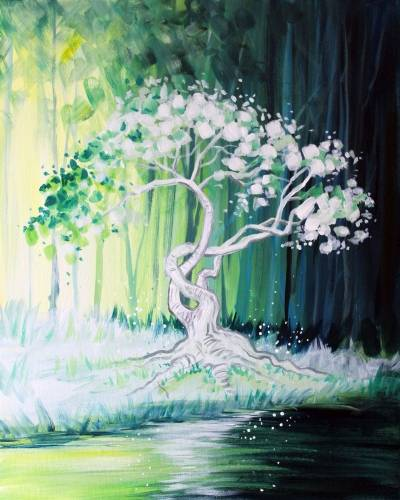 A Emerald Forest AND MAGIC paint nite project by Yaymaker