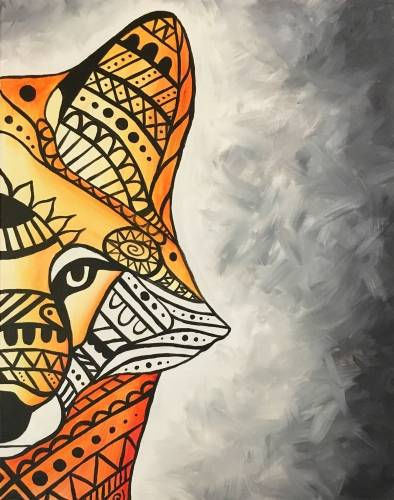 A Tribal Red Fox paint nite project by Yaymaker