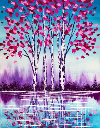 A Reflection In Pink paint nite project by Yaymaker