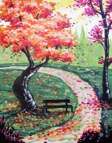 A Fall is Just Around the Corner paint nite project by Yaymaker