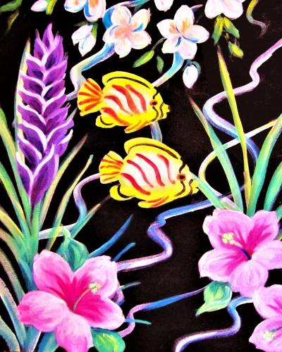 A Tropical Fish and Flora paint nite project by Yaymaker