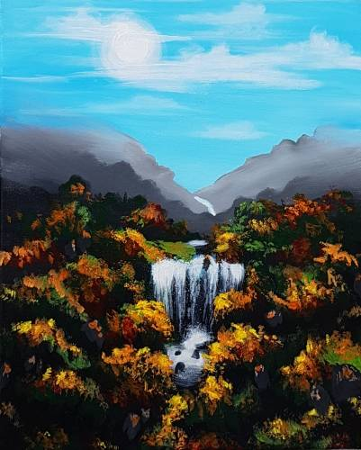 A Autumn Falls II paint nite project by Yaymaker