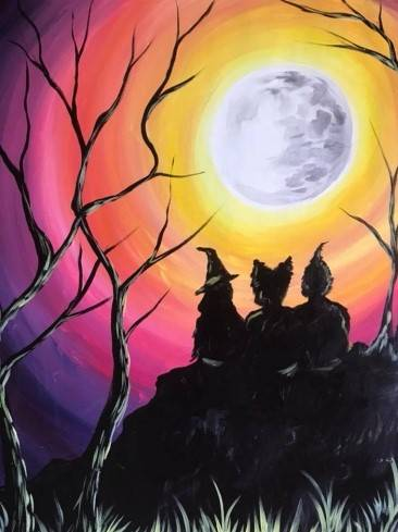 A I Put A Spell On You paint nite project by Yaymaker