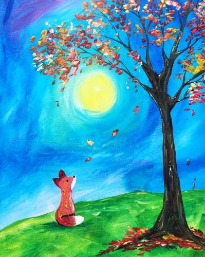 A Fox in Fall paint nite project by Yaymaker