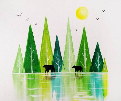 A The Wild Woods paint nite project by Yaymaker