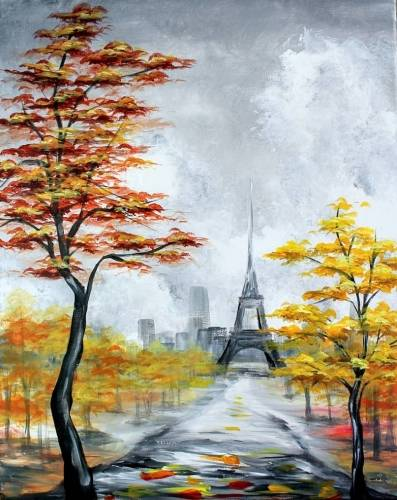 A Falling For Paris V paint nite project by Yaymaker