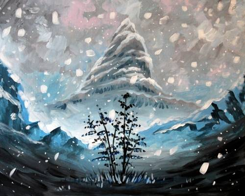 A Snowy paint nite project by Yaymaker