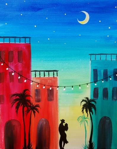A My Heart is in Havana paint nite project by Yaymaker