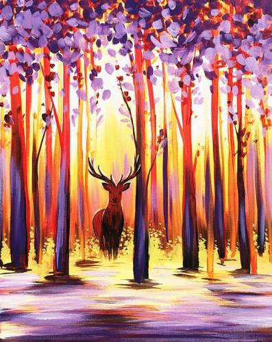 A Deer Fall paint nite project by Yaymaker