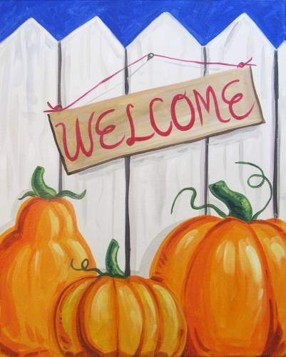 A A Fall Welcome paint nite project by Yaymaker