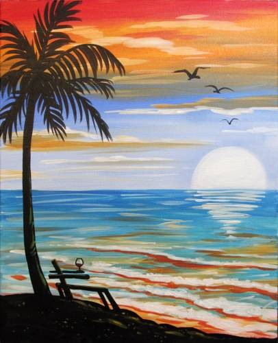 A Holding on to Summer paint nite project by Yaymaker