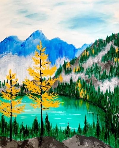 A Autumn In The Mountains paint nite project by Yaymaker