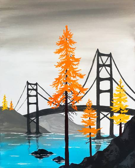 A Tree Bridge paint nite project by Yaymaker