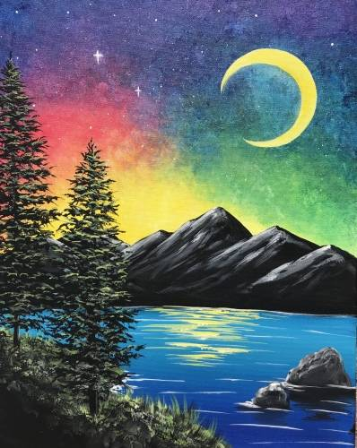 A Mystic Midnight paint nite project by Yaymaker