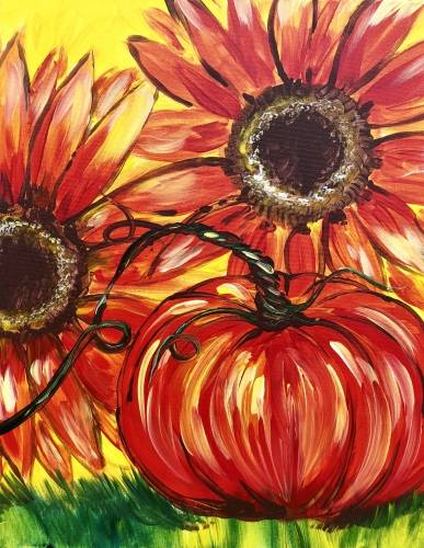 A Autumn All Around paint nite project by Yaymaker