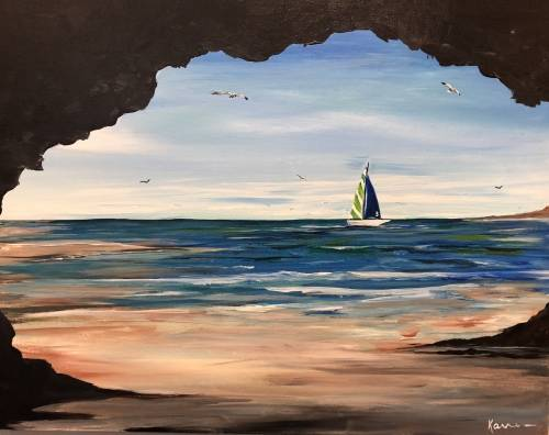 A Summers Last Sail paint nite project by Yaymaker