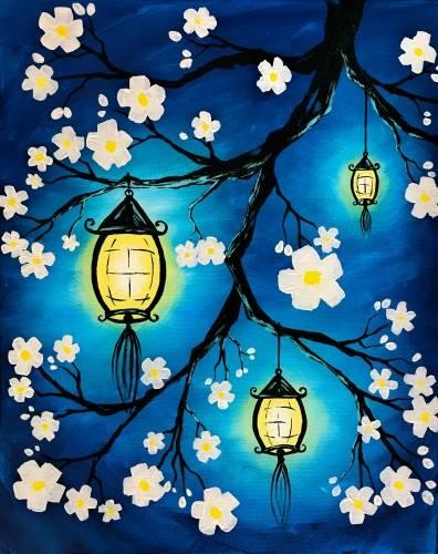 A Illuminated Lanterns paint nite project by Yaymaker